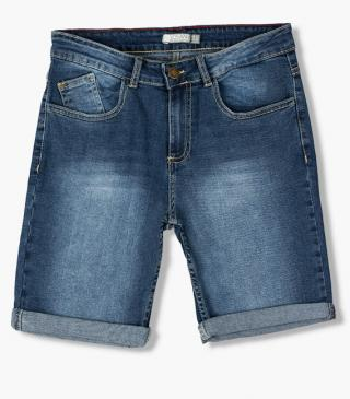 Roll-up cuff denim shorts from our essential collection for woman