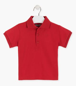 Essential collection piqué polo shirt for junior boy