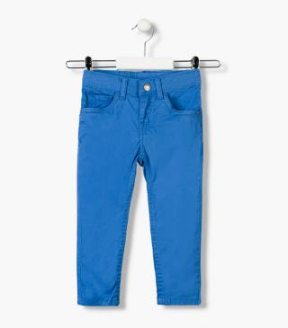 Essential collection skinny trousers in twill for boy