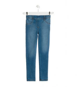 Essential collection jeggings with button at the waist for junior girl