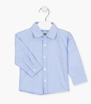 100% cotton Oxford shirt with long sleeves for baby boy