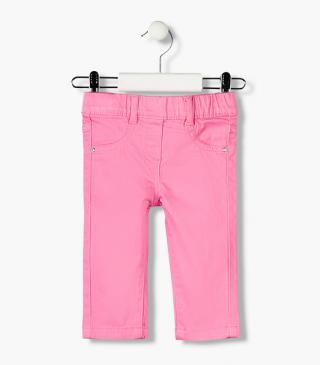 Sateen jeggings from our essential collection for baby girl
