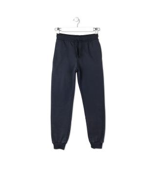 Plush trousers with cuffs.