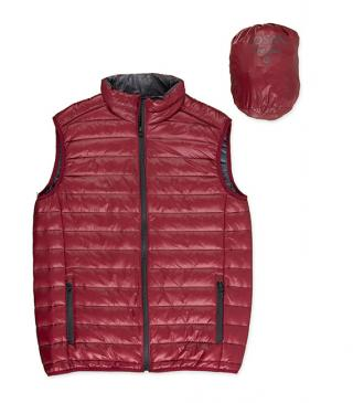 Red waistcoat with pouch.