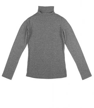 Basic single jersey t-shirt with turtleneck.