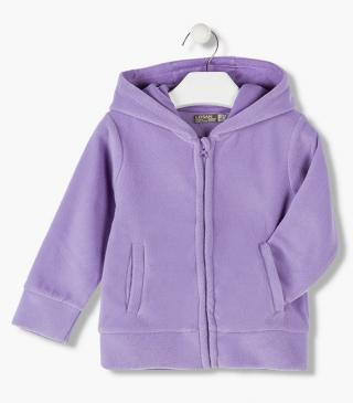 Essential hooded fleece jacket.