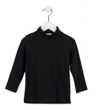 Knit mock turtleneck t-shirt